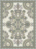 Ukrainian Oriental Floral Ornamental Seamless Carpet Design — Stock Vector