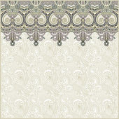 Ornate floral background with ornament stripe — Vettoriale Stock