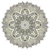 Circle ornament, ornamental round lace — Vetorial Stock
