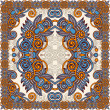Royalty-Free Stock Imagem Vetorial: Traditional ornamental floral paisley bandanna