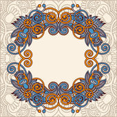 Ornamental template with floral background — Stockvektor