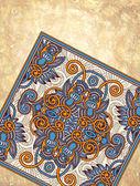 Grunge zemin üzerine çiçek halı süs tasarım — Stok Vektör