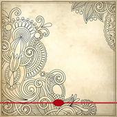 Dekorativní květinový vzor v grunge pozadí — Stock vektor