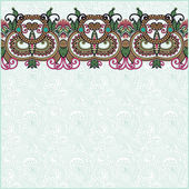 Ornate floral background with ornament stripe — Wektor stockowy