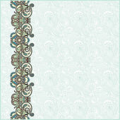 Ornate floral background with ornament stripe — Stock vektor
