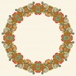 Circle ornament, ornamental round lace - Stockvectorbeeld