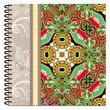Design of spiral ornamental notebook cover — Grafika wektorowa