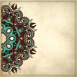 Royalty-Free Stock 矢量图片: Ornamental floral pattern in grunge background