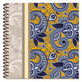 Design of spiral ornamental notebook cover — Stock Vector