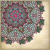 Patrón floral ornamental en segundo plano grunge — Vector de stock