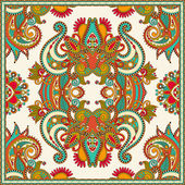 Traditional ornamental floral paisley bandanna — Vettoriale Stock