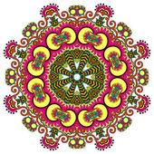 Kreis ornament, dekorative runde spitze — Stockvektor