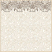 Ornate floral background with ornament stripe — Vector de stock