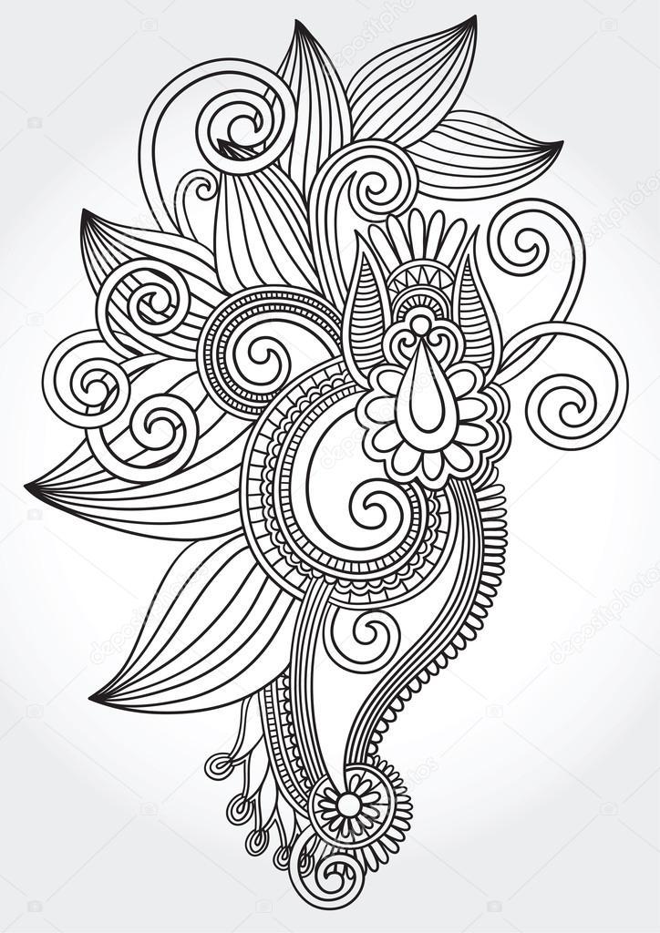 Line Art Design Kft : Zwart wit oorspronkelijke hand tekenen lijn kunst