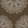 Vintage floral ornamental background, circle flower element — Imagen vectorial