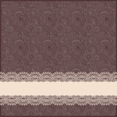 Ornate floral background with ornament stripe — Stok Vektör