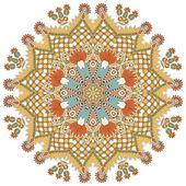 Okrągły ornament koło, ozdobnych koronek — Wektor stockowy