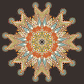 круглый круг орнамент, декоративные кружева — Cтоковый вектор