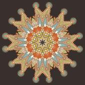 Ornement de cercle, ornement dentelle ronde — Vecteur