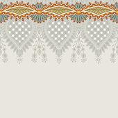 飾りのストライプを持つ華やかな花の背景 — ストックベクタ