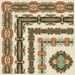 Collection of ornamental floral vintage frame design -  