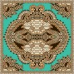 Traditional ornamental floral paisley bandanna — Stock Vector #17759091