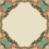 Floral vintage frame — Vecteur