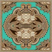 Tradicional pañuelo paisley floral ornamental — Vector de stock