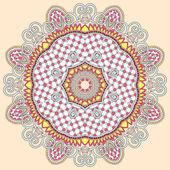 Circle ornament, ornamental round lace — Stock Vector