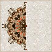 Modello cerchio ornamentale con sfondo floreale — Vettoriale Stock