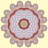 Ornamento del círculo, ornamental cordón redondo — Vector de stock