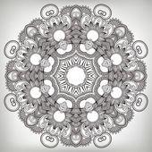 Ornamento do círculo, laço decorativo redondo — Vetorial Stock