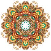 Cirkel ornament, versiering ronde kant — Stockvector