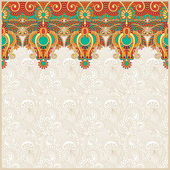 Ornate floral background with ornament stripe — Stock Vector