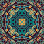 Tradicional ornamental floral paisley bandana — Vetorial Stock