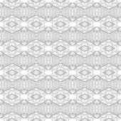 Witte geometrie abstracte naadloze achtergrond — Stockvector