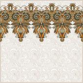 Fundo floral ornamentado com listra de ornamento — Vetorial Stock