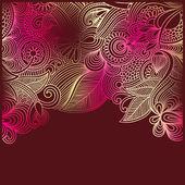 Ročník ornamentální šablona — Stock vektor