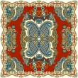 Traditional ornamental floral paisley bandanna - Stock Vector
