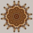 Circle ornament, ornamental round lace - Stockvektor