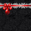 Holiday background with red ribbon — Stock Vector