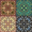 Four ornamental floral seamless texture collection, lace pattern — Stock Vector #18028531