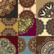 Royalty-Free Stock Imagen vectorial: Vintage floral ornamental background, circle flower element