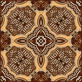 Traditionnel ornement floral paisley bandana — Vecteur