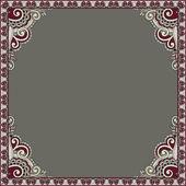 Ornamental floral vintage frame design — Stock Vector
