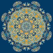Cirkel prydnad, dekorativa runda spetsar — Stockvektor