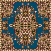 Tradicional ornamental floral paisley bandana — Vetor de Stock