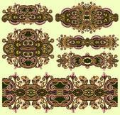 Adorno floral ornamental — Vector de stock
