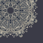 Ornamental circle template with floral background — Stockvektor