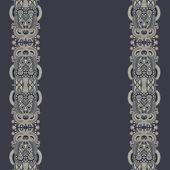 Verzieren floral hintergrund mit ornament stripe — Stockvektor
